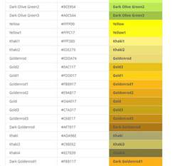 gold html color code the best helping bd site html all color codes for