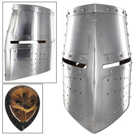 Helm Cross middle ages great helm iron cross crusader knights templar battle helmet armor ebay