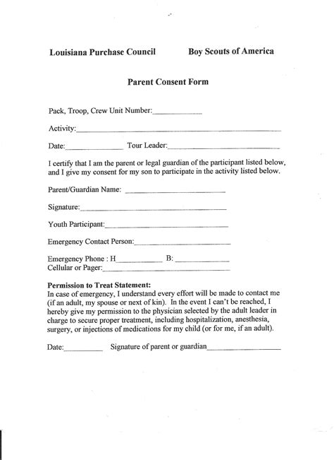 Parental Consent Letter For Part Time doc 736952 parent consent forms 25 best ideas about