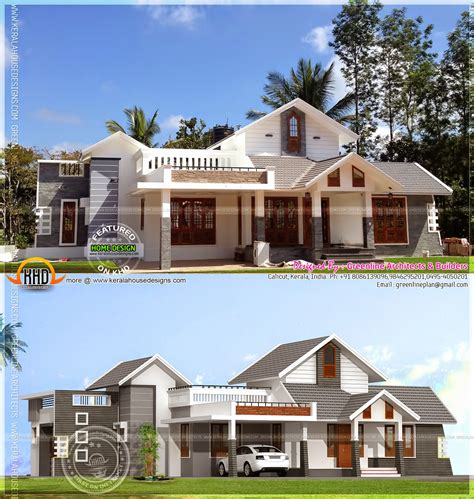kerala home design software download flat roof home luxury kerala design and floor plans modern