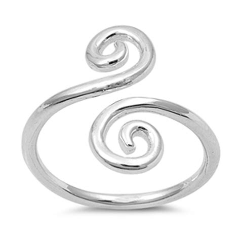 s open swirl design promise ring new 925 sterling