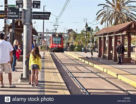 light san diego passengers an mts san diego trolley actually a