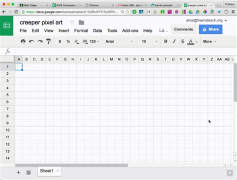 Google Sheets Pixel Art Template Teacher Tech Sheets Pixel Template