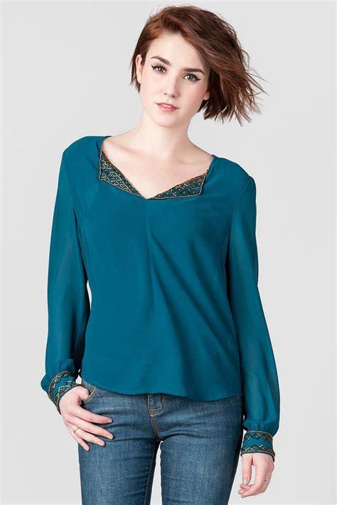 Beaded Chiffon Blouse beaded chiffon blouse s
