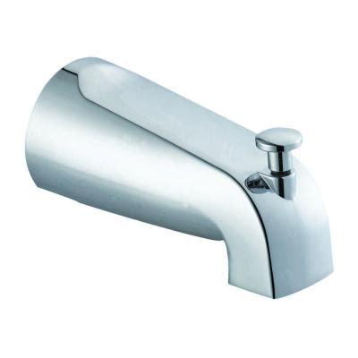 design house slip on tub diverter spout in polished chrome