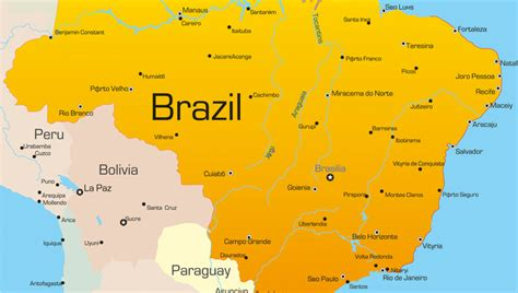 map of brazil cities brazil map with cities www pixshark images