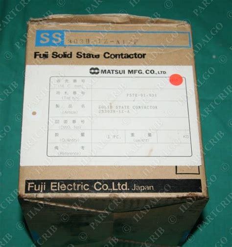 Solid State Kontaktor Ss 803h 1z A1 Fuji Electric fuji ss303h 1z a1 solid state contactor starter 30a new partcrib