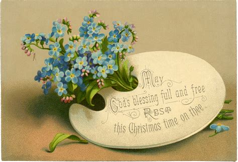 pretty victorian floral christmas card  graphics fairy