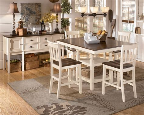 furniture whitesburg dining table whitesburg square counter extendable dining room set from