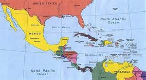 map of central america and southern u s react to who
