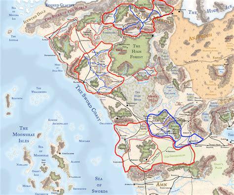 political map  faerun dnd