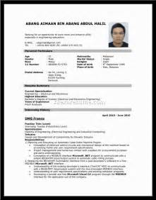 resume sle format for bullet style resume
