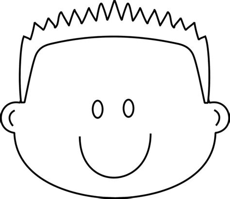 boy happy face with spiky hair coloring page greatest