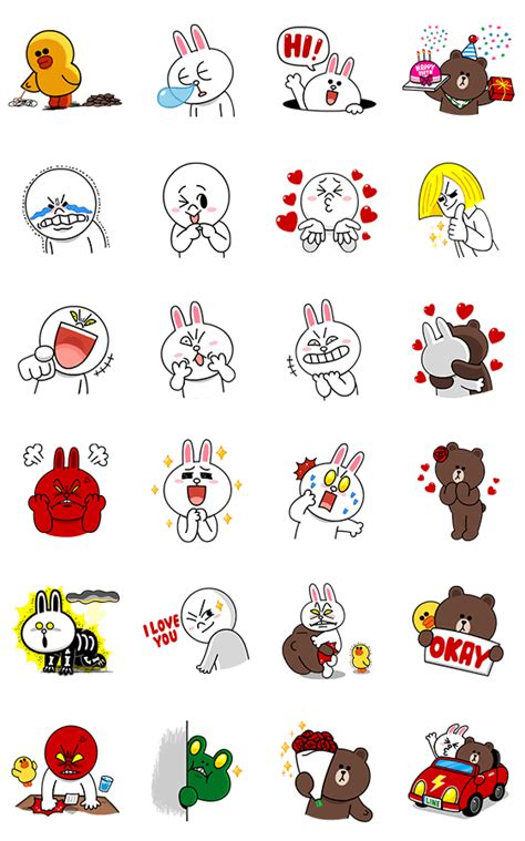 wallpaper emoji line 画像 line characters all the love by line line me