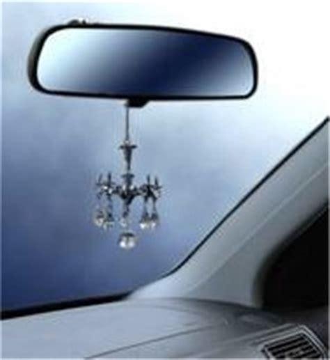 Decorative Mini Chandelier W Crystals Rear View Mirror Mini Car Chandelier