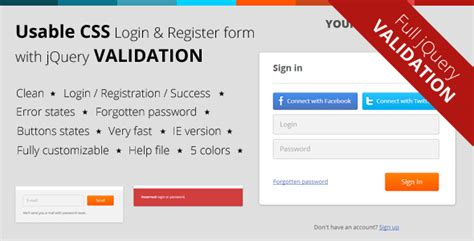 jquery registration form template 30 beautiful html css login registration form templates
