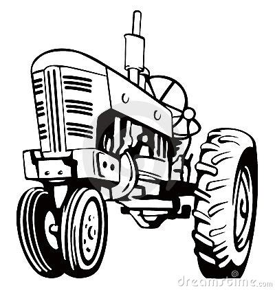 tractor clipart black and white | clipart panda free