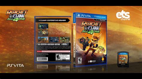 Psvita Doctrine Reg All ratchet clank all 4 one playstation vita box cover by edwardpines