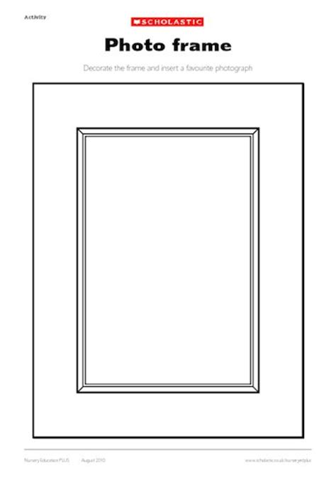 free photo frame template photo frame template early years teaching resource
