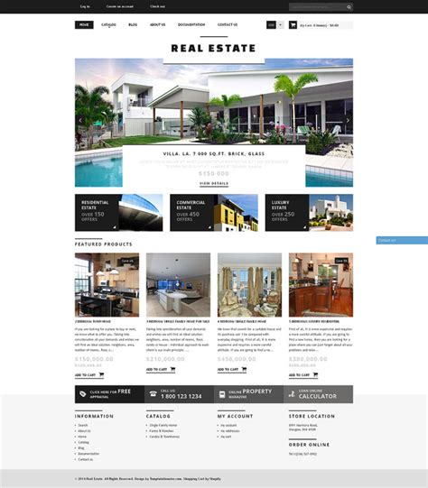 bootstrap real estate agency responsive shopify theme