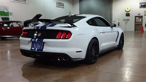 white mustang 2017 ford mustang shelby gt350r in white paint engine