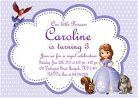 sofia the free invitation templates 1000 images about sofia the birthday on