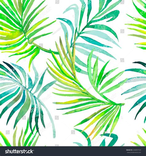 palm leaf pattern vector palm leaves pattern seamless tropical pattern stock vector