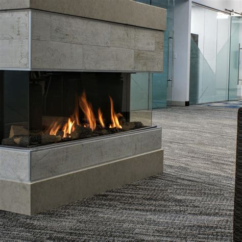 living room design linear fireplace with linear fireplace