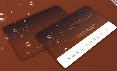 Chocolate Business Card Templates by Free Chocolate Business Card Design Template Psd Titanui