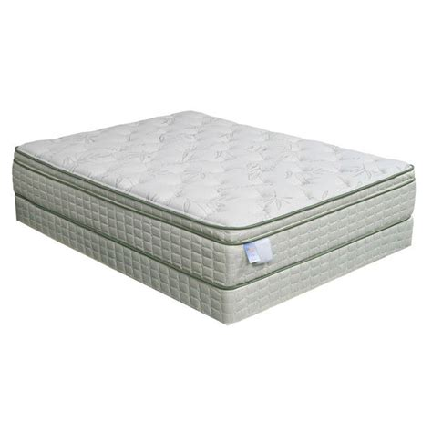 eco pedic pillow top premium size mattress set