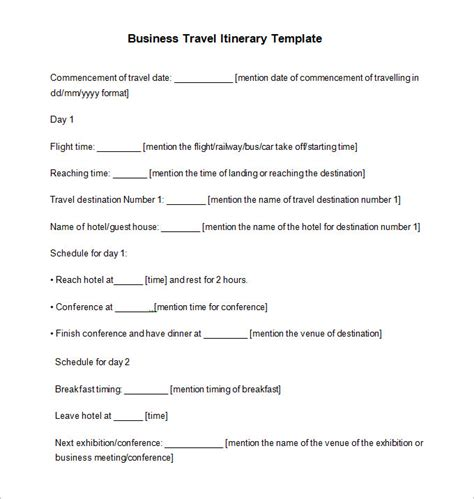 Business Travel Letter Template 40 travel itinerary templates free sle exle format free premium templates