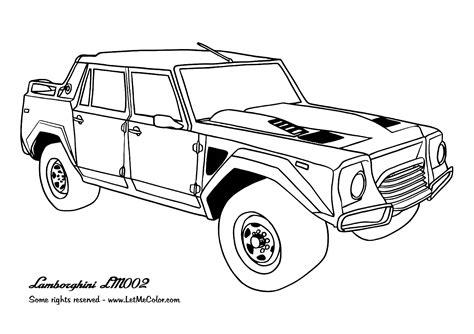 lamborghini coloring pics awesome cars coloring page lamborghini lm002 special