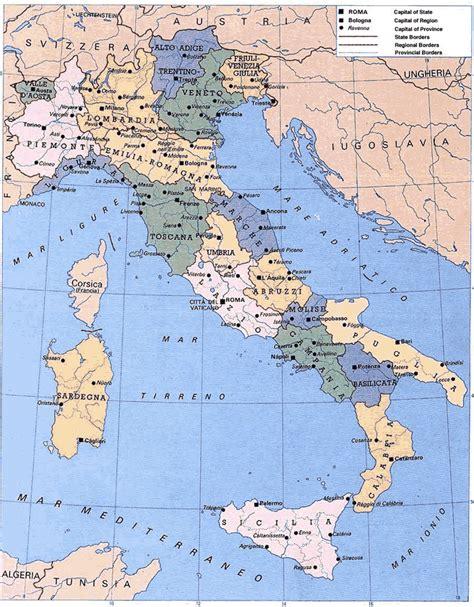 italian map maps of italy