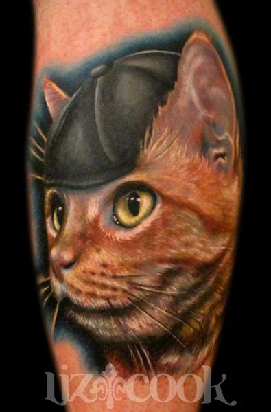 cat portrait tattoo cat by liz cook tattoonow