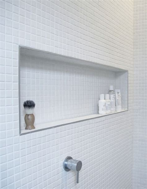 Shower Rail For Corner Bath tiled shower niche amp shower shelf bathroom awesome