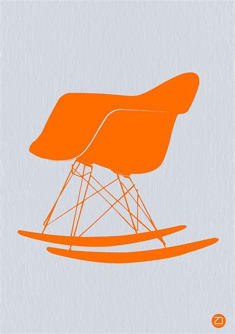 Orange Rocking Chair by Eames Rocking Chair Orange Photograph By Naxart Studio