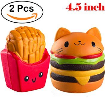 Jumbo Gudetama Hamburger Squishy Rising Orange food squishies food
