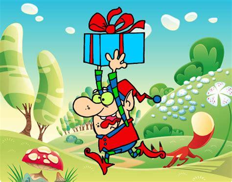 el regalo del duende 8431672560 dibujo de duende huyendo con un regalo pintado por queyla en dibujos net el d 237 a 13 07 12 a las