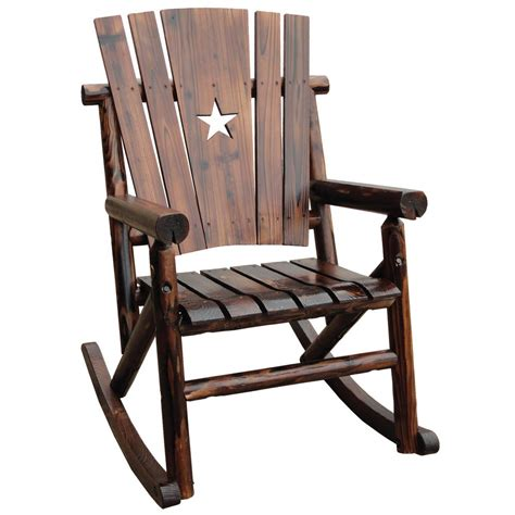 Rocking Chair - leigh country char log patio rocking chair with tx
