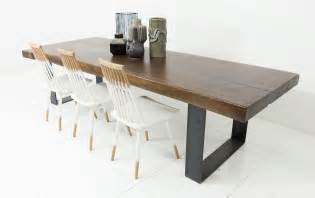All Wood Kitchen Tables Kitchen Acacia Wood Slab Table With Black U Leg All Modern Dining Tables Amazing Modern