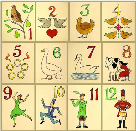 the twelve gifts of the twelve days of gifts and poems search