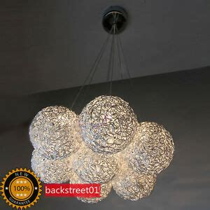 A Shade Of Vire 7 new modern 7 lights aluminum wire shade pendant l