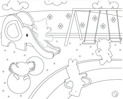 coloring pages school playground playground printable coloring pages