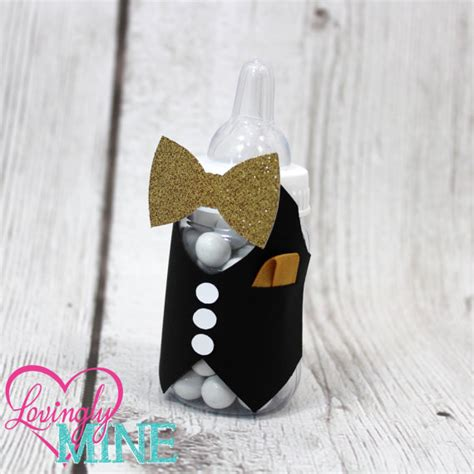 Bow Tie Baby Shower Favors by Bow Tie Baby Shower Baby Bottles Favors In The