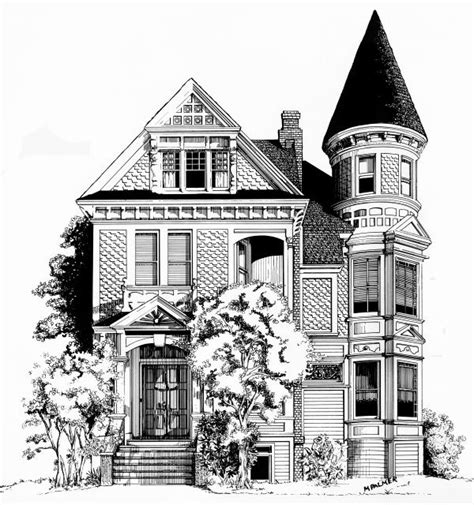 Victorian House Drawings by San Francisco Victorian House Drawing Painted Ladies