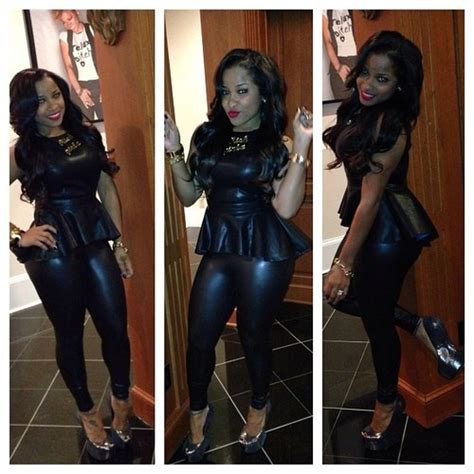 toya wright fashion style latoya wright in all black leather black n blue s t y l