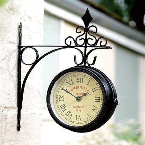 Kensington Station Double Sided Garden Wall Clock 163 17 99 Garden Wall Clock