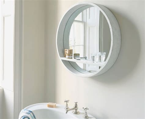 round bathroom mirror with shelf white mirror bathroom buy bathroom wall mirrors