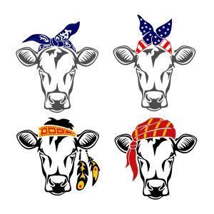 cow bandana kerchief cuttable design