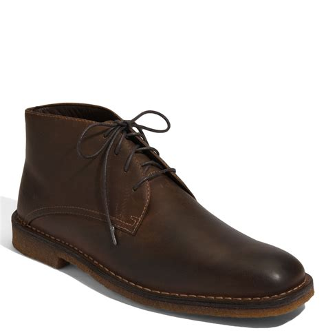 johnston and murphy mens boots johnston murphy runnell chukka boot in brown for